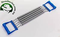 Эспандер пружинный плечевой 5 пружин  ручки-пластиковые 35см  FI-2025