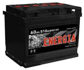Автомобильный аккумулятор Energia 6СТ-60