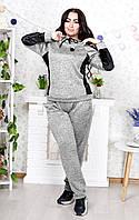 Женский прогулочный костюм супер батал серый