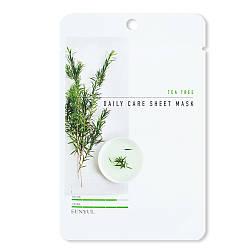Тканинна маска з екстрактом чайного дерева Eunyul Daily Care mask Sheet Tea Tree