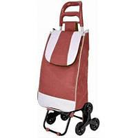 Тачка сумка тележка кравчучка с тройным колесом 95см Stenson MH-2786 Red