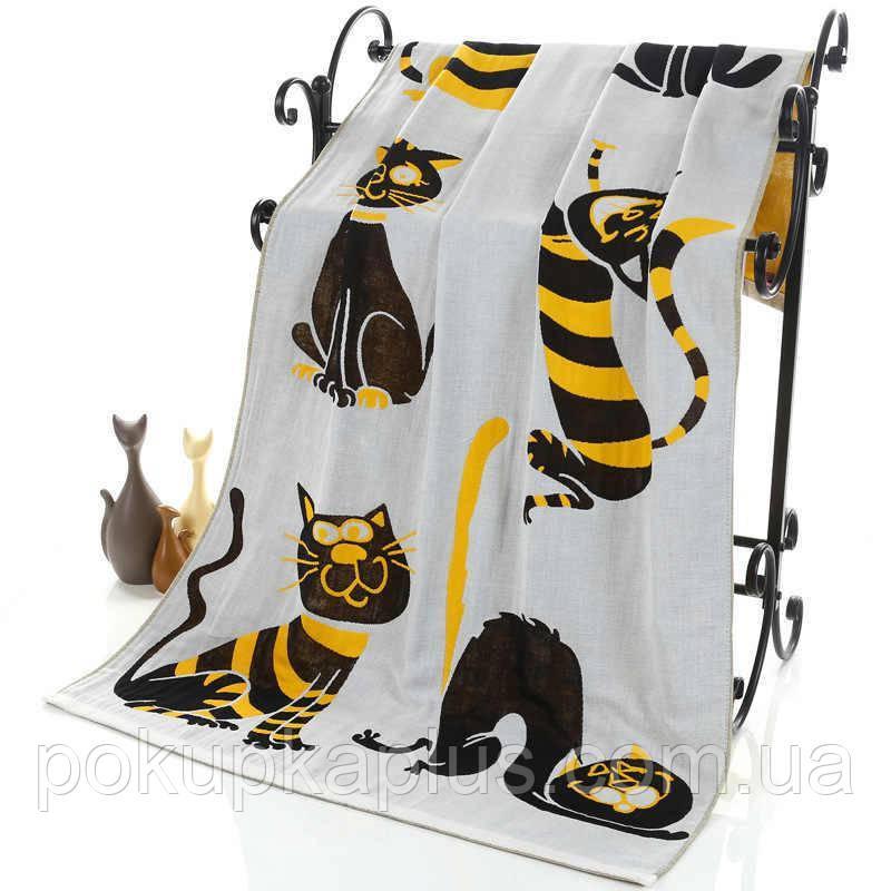 Полотенце для сауны Кошка Лен 1,8 x 0,9