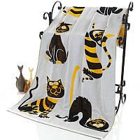Полотенце для сауны Кошка Лен 1,8 x 0,9, фото 1