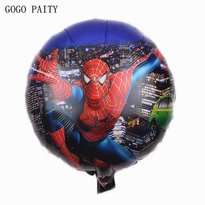 """Фольгированный шар круглый Человек Паук в ночном городе диаметр 45 см 18"""""""