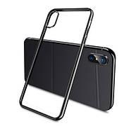 Силиконовый чехол Color Frame для Samsung A8 plus Black