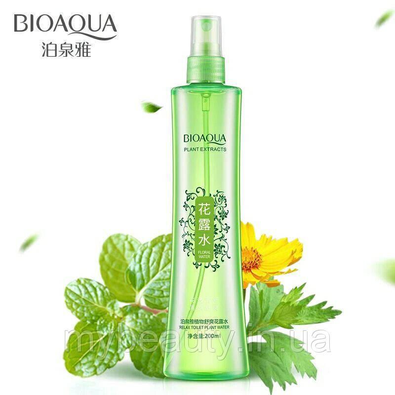 Увлажняющий спрей для лица BIOAQUA с экстрактом мяты 200 ml
