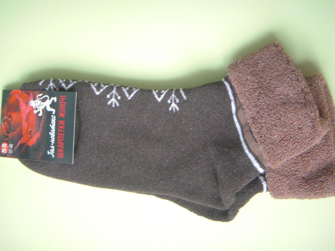 Носки женские махровые с подворотом размер 36-40 Червоноград