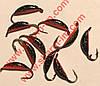 Блешня вольфрамова Bravo 1825-40 2,5 мм 0,68 гр. Супер банан з вушком фарбований