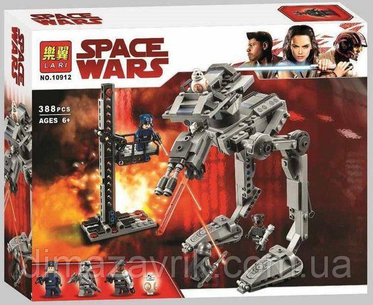 """Конструктор Bela 10912 (Аналог Lego Star Wars 75201) """"Вездеход AT-ST Первого Ордена"""" 388 детали"""