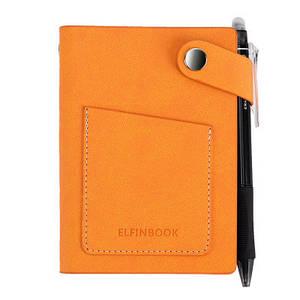 Смарт-блокнот Elfinbook Mini многоразовый умный блокнот в кожаной обложке. Желтый