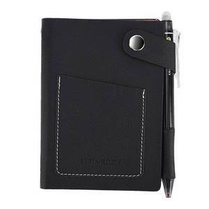 Смарт-блокнот Elfinbook Mini многоразовый умный блокнот в кожаной обложке. Черный