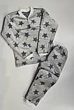 Пижама на девочку махровая 38 р  арт 1055 синяя 38 р,серая 38 р,40 р., фото 6