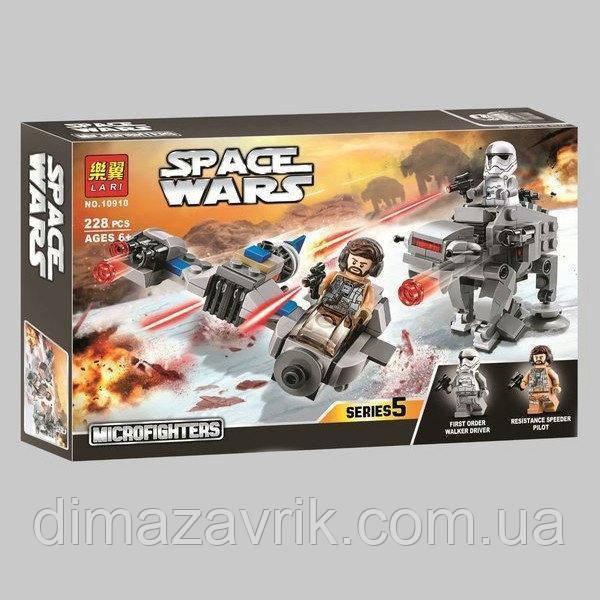 """Конструктор Bela 10910 (Аналог Lego Star Wars 75195) """"Бой пехотинцев Первого Ордена против спидера на лыжах"""