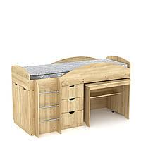 Кровать чердак Универсал Компанит Дуб сонома, КОД: 126365