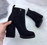 Модные ботинки на каблуке, фото 1