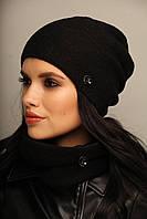 """Женские шапки """"ХЛОЯ"""" в комплекте со Снудом. Флисовая подкладка. Шерсть-100%."""