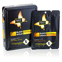 Маска для лица Black Gold Extravagant Whitening (отбеливающая) (уп.10шт)