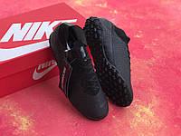 Сороконожки Nike Mercurial Vapor 13 Academy TF/футбольная обувь/найк меркуриал вапор черные, фото 1