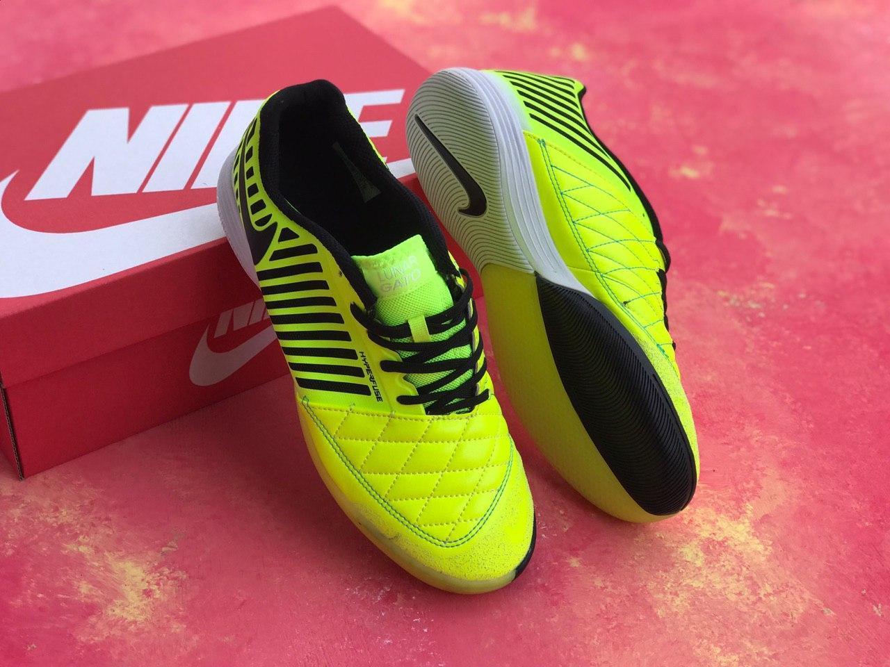 Футзалки Nike Lunar Gato II/найк лунар гато/футбольная обувь/залки