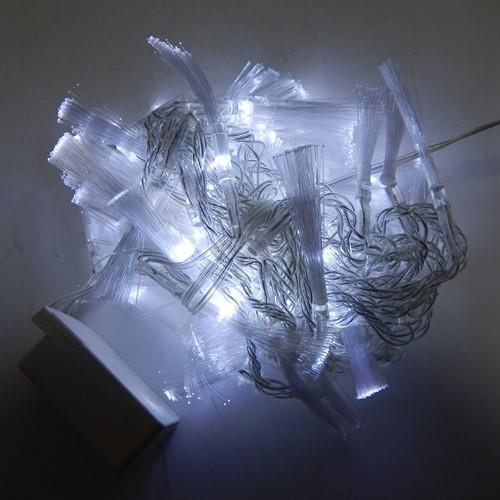 Гирлянда Нить Кисточка электрическая, 100 led, белая, прозрачный провод, 6м.