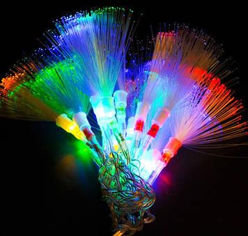 Гирлянда Нить Кисточка электрическая, 100 led, мульти, прозрачный провод, 6м.