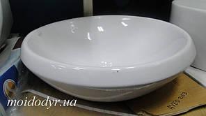 Умивальник накладний керамічний Sonet Aveo 400 мм круглий