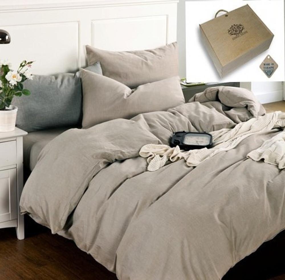 Постельное белье из льна Бриллиантовый туман ТМ Комфорт-текстиль (Двуспальный)