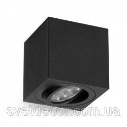 Светильник Накладной Поворотный Feron ML303 под лампу MR-16 GU10 Квадрат Черный