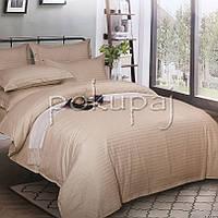 Комплект постельного белья Krispol страйп сатин люкс 200*220 евро стандарт 541209 с