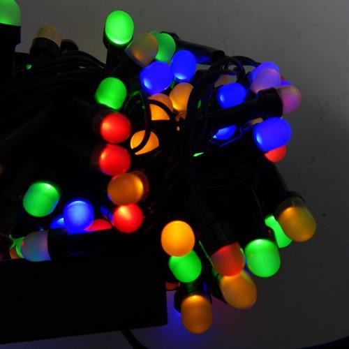 Гирлянда Нить Перламутр электрическая, 200 led, мульти, черный провод, 10,5м.