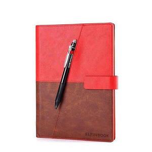 Смарт-блокнот Elfinbook X многоразовый умный блокнот в кожаной обложке. Красный