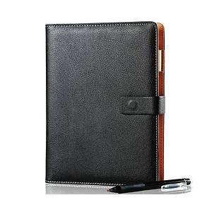 Смарт-блокнот Elfinbook X многоразовый умный блокнот в кожаной обложке. Черный