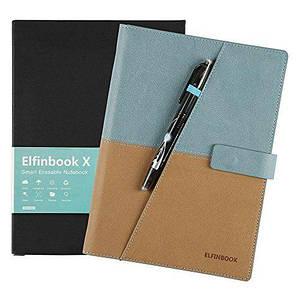 Смарт-блокнот Elfinbook X многоразовый умный блокнот в кожаной обложке. Голубой