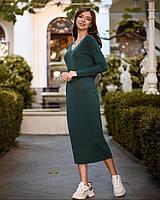 Платье женское миди из ангоры TM B&H АА/-0016 - Зеленый, фото 1