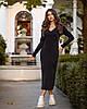 Платье женское миди из ангоры TM B&H АА/-0016 - Черный