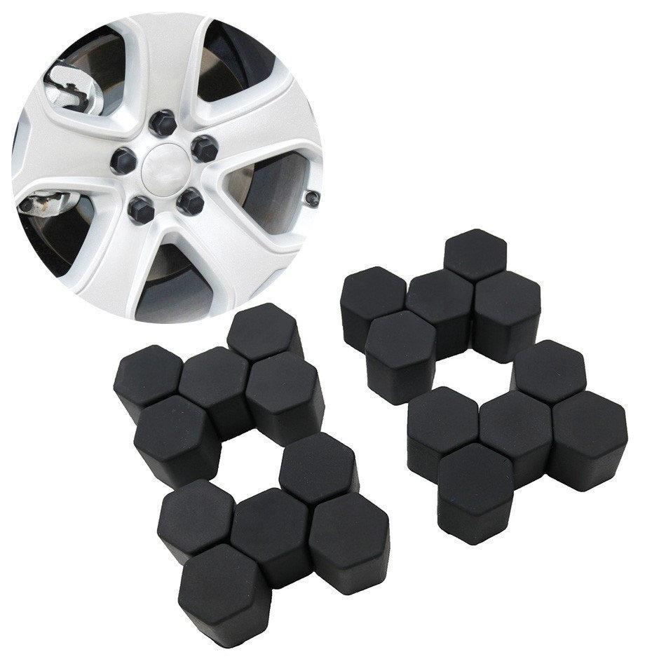 Защитные силиконовые колпачки на колесные гайки 21 мм черные