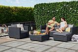 Набор садовой мебели Salta Lounge Set из искусственного ротанга ( Allibert by Keter ), фото 3