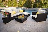 Набор садовой мебели Salta Lounge Set из искусственного ротанга ( Allibert by Keter ), фото 7