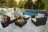 Набор садовой мебели Salta Lounge Set из искусственного ротанга ( Allibert by Keter ), фото 9