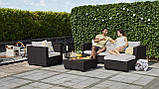 Набор садовой мебели Salta Lounge Set из искусственного ротанга ( Allibert by Keter ), фото 8