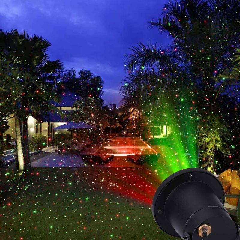 Уличный лазер. Точечный проектор OUTDOOR LASER LIGHT (металлический водоотталкивающий корпус), фото 1