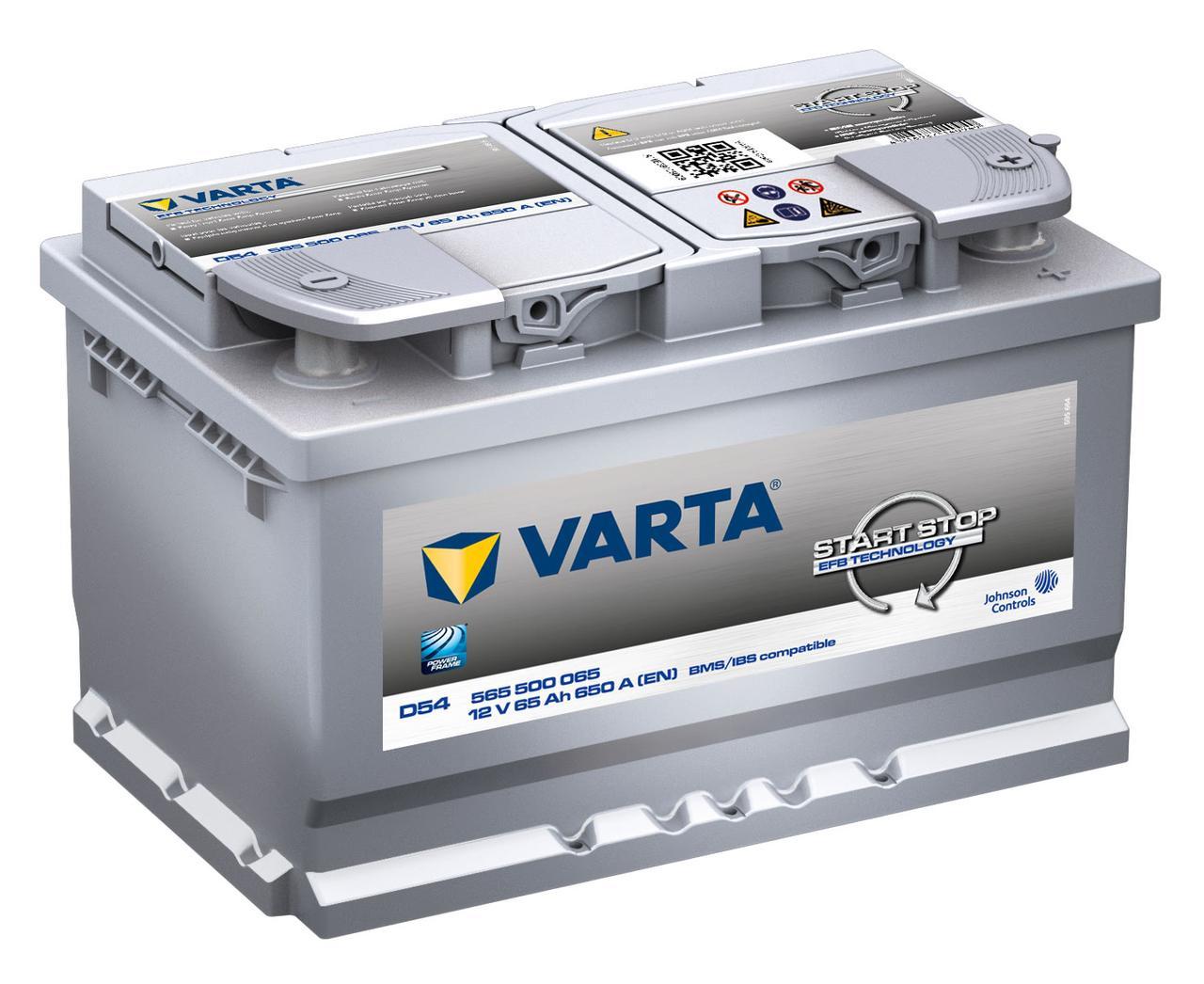 VARTA 6СТ-65 Start-Stop EFB 565500(D54) Автомобильный аккумулятор
