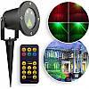 Рождественский лазерный проектор водонепроницаемый точки и рисунки, красный и зеленый цвет, пульт