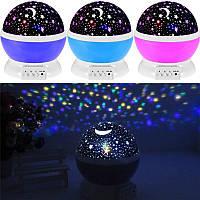 Светильник Звёздное небо Шар (вращается) синий, розовый, фиолетовый, фото 1