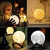 Настольный светильник uft magic 3d moon light touch control super луна 13 см