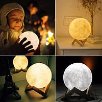 Настольный светильник uft magic 3d moon light touch control super луна 13 см, фото 1