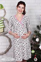 Ночная сорочка для беременных и кормящих из плотного хлопкового трикотажа Alisa NW-1.5.1