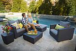 Набор садовой мебели Salta Lounge Set Graphite ( графит ) из искусственного ротанга ( Allibert by Keter ), фото 4