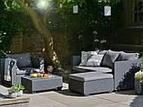 Набор садовой мебели Salta Lounge Set Graphite ( графит ) из искусственного ротанга ( Allibert by Keter ), фото 6