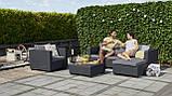Набор садовой мебели Salta Lounge Set Graphite ( графит ) из искусственного ротанга ( Allibert by Keter ), фото 5